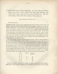 Further Observations on Voltaic Combinations. In a Letter addressed to Michael Faraday...
