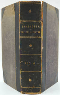 image of Thackeray's 'Sketches in Ireland'; 'The Iris'; and 'Prattsville, an American Poem', in contemporary bound collection of pamphlets entitled 'Pamphlets, Travels and Poetry'