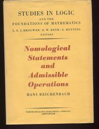 Nomological Statements and Admissible Operations. (Studies in Logic and the Foundations of...