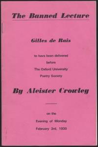 The Banned Lecture, Gilles de Rais