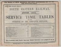 Service Time Tables August 1863