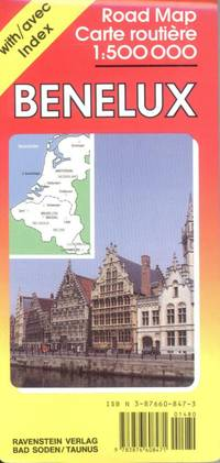 Benelux Road Map with Separate Index 1:500,000