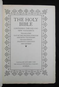 The Holy Bible [with] The Making of the Bruce Rogers World Bible; Containing The Old and New...