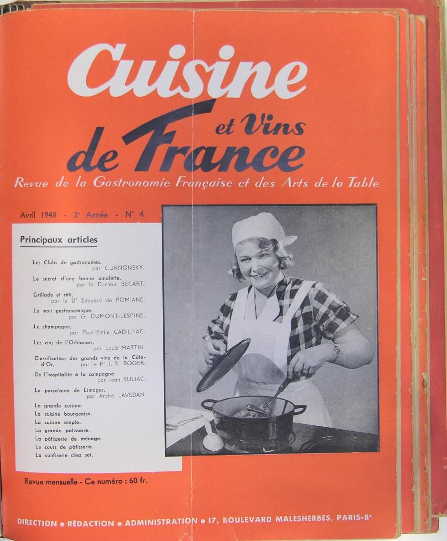 cuisine de france cuisine et vins de france by revue curnonsky et collectif 1947 from. Black Bedroom Furniture Sets. Home Design Ideas