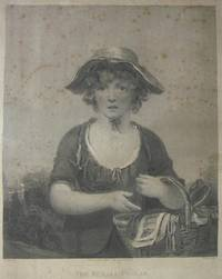 The Female Pedlar, Girl in straw hat holding basket, after Henry Singleton [1766-1839]. by ROBERT MITCHELL MEADOWS [1763-1812] - from R.G. Watkins Books and Prints (SKU: RGW20570)