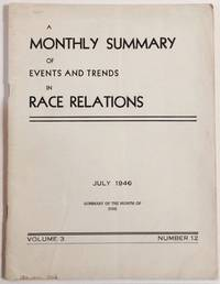 image of A monthly summary of events and trends in race relations. Volume 3, number 12 (July 1946)