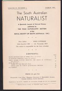 image of The South Australian Naturalist Vol.27 No.3 March 1953