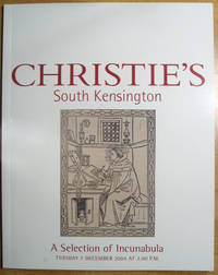 A Selection of Incunabula; 7 December 2004; Sale 5509