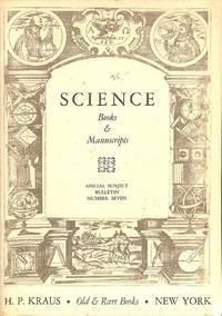 Special Bulletin No. 7/n.d.: Science. Books & Manuscripts.