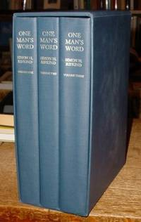 One Man's Word:  Selected Works of Simon H. Rifkind (In Three Volumes)