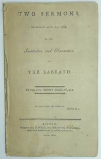 image of TWO SERMONS DELIVERED APRIL 27, 1788, ON THE INSTITUTION AND OBSERVATION OF THE SABBATH
