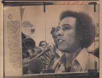 [Black Panthers]  Wire Photo of Huey Newton