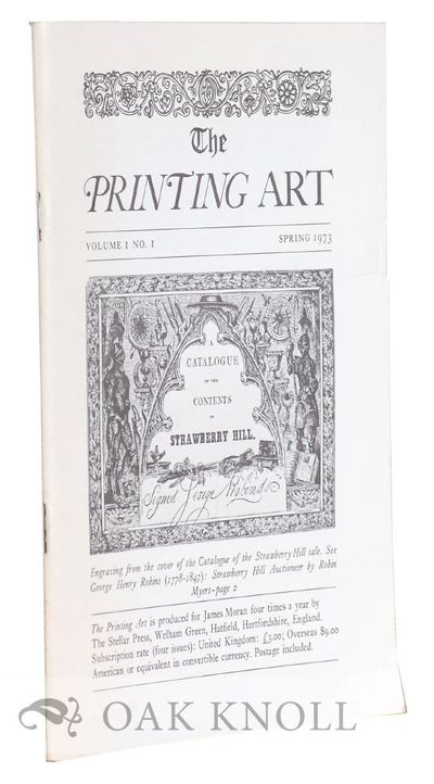 Hatfield: The Stellar Press, 1974. self paper wrappers. 8vo. self paper wrappers. Odd volumes of thi...