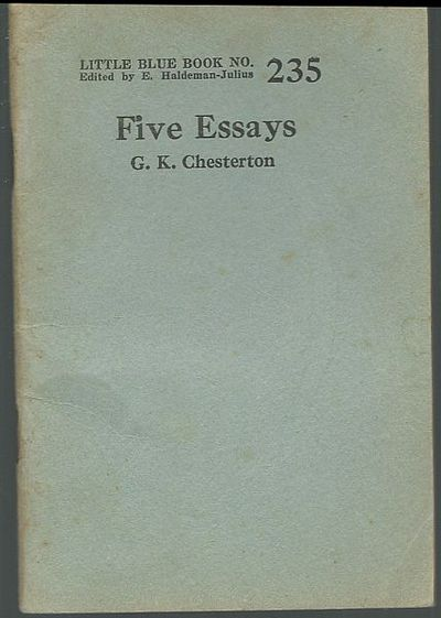 g.k. chesterton collected essays As an investigation into the life of catholic apologist gk chesterton nears a close, admirers of the english writer voiced hope that his sainthood cause could soon be opened.