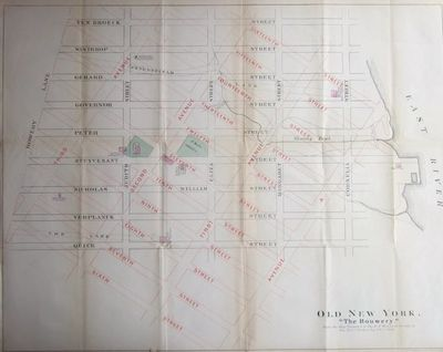 New York, 1862. Ephemera. Near Fine. Single leaf (about 20x16 inches), lithographed map showing the ...