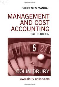 Management & Cost Accounting. Student's Manual