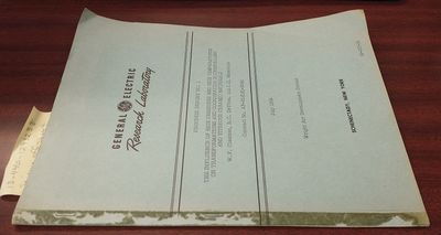 Schenectady, New York: Research Laboratory, General Electric Company, July 1959. First Edition. Soft...