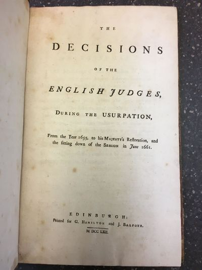 Edinburgh: Printed for G. Hamilton and J. Balfour, 1772. 4to., 243pp.; VG-; spine paneled brown calf...
