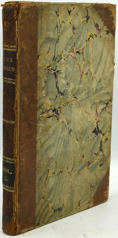 1838. Half Leather. Fair binding. Two issues bound in one, of the Museum of Foreign Literature, Scie...