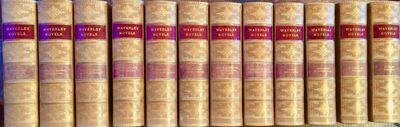 DeWolfe, Fiske & Co. Boston. Circa 1870 Twelve volumes, 8vo., bound in half smooth butterscotch calf...