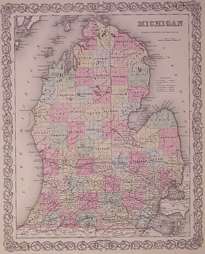 New York: Colton, J.H., 1855. unbound. very good. Map. Engraving with original hand coloring. Image ...