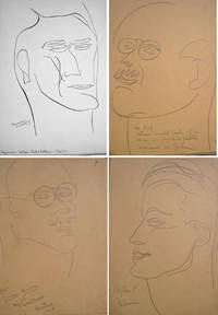 22 Pencil Portrait Drawings & 16 pen and ink Portrait drawings on heavier stock of various Speakers at the New School at December 7th, 1929 on the Prospects of the Young American Writer, including Gorham Munson (5), William Carlos Williams (3), Dr.Josef Jastrow, John Riordan, Clifton Fadiman, Mark Van Doren