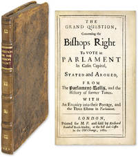 The Grand Question, Concerning the Bishops Right To Vote in Parlament