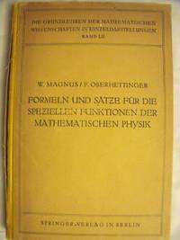 image of Formeln Und Satze Fur Die Speziellen Funktionen Der Mathematischen Physik