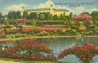 Hershey Rose Garden and Hotel Hershey, Pa 1953 used linen Postcard