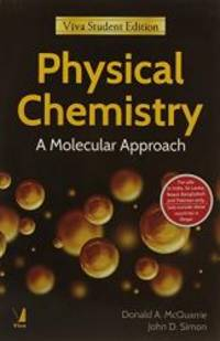 image of Physical Chemistry: A Molecular Approach