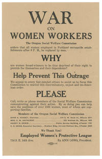 War On Women Workers.