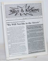 """image of Alive & Kicking: the newsletter & calendar of We the People Living With AIDS/HIV of the Delaware Valley; #6, April, 1992: """"We Will Not Die in the Streets!"""