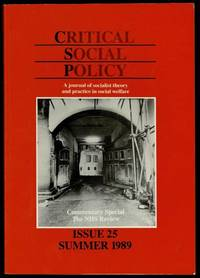 image of Critical Social Policy Issue 25 Summer 1989