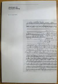 Mitteilungen der Paul Sacher Stiftung; Nr. 14, April 2001