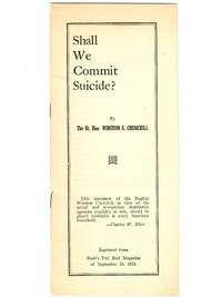 Shall We Commit Suicide?