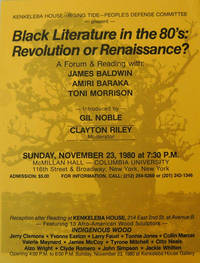 Black Literature in the 80's:  Revolution or Renaissance? A Forum & Reading [Flyer / Poster]