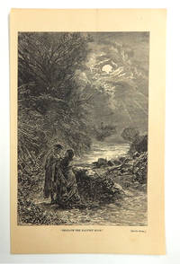 """""""Beneath the Harvest Moon'"""" Engraved Plate from Peterson's Magazine, collected edition"""
