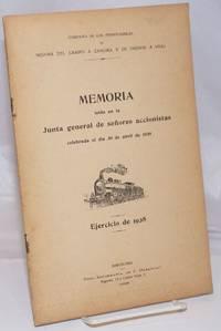 image of Memoria leida en la Junta general de senores accionistas celebrada el dia 30 de abril de 1929.  Ejercicio de 1928