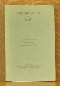AN INTRODUCTION TO LAW - ESSAYS OF GENERAL INTEREST SELECTED FROM THE PAGES OF THE HARVARD LAW REVIEW