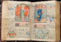 HOURS OF PHILIPPOTE DE NANTERRE (USE OF AMIENS); illuminated manuscript on parchment, in Latin and French