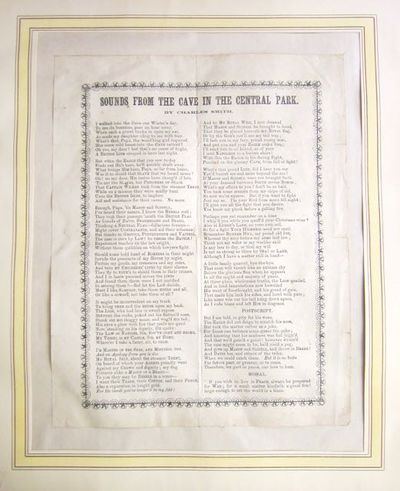 n.p.: n.p., n.d.. Ephemera. Very Good. Broadside; 300x239mm; an 11 stanza poem, plus the moral, prin...