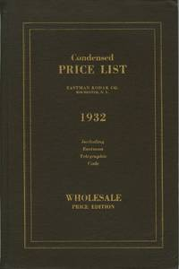 CONDENSED PRICE LIST OF PHOTOGRAPHIC MATERIALS AND APPARATUS.; CORRECTED TO MARCH 15, 1932