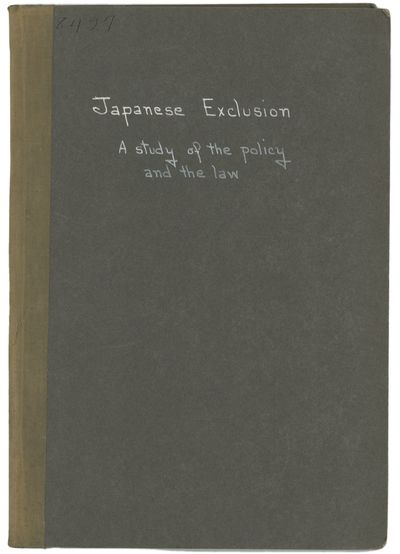 JAPANESE EXCLUSION: A Study of the...