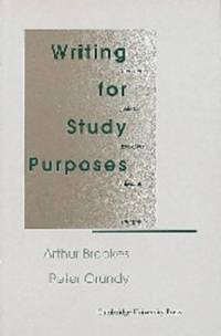 Writing for Study Purposes: A Teacher's Guide to Developing Individual Writing Skills...