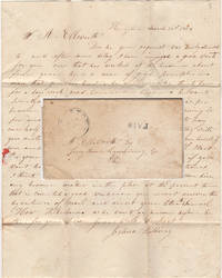 HE WILL MAKE THIRTY BROOMS FOR A DAYS WORK [AND] WANTS TWENTY DOLLARS PER MONTH AND BOARD OR 2½c PER BROOM. Letter from a hiring agent notifying a gentleman in Lycoming County, Pennsylvania that he has a found a knowledgeable and trustworthy broom maker for his employ