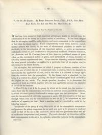 On the Air Engine (Philosophical Transactions of the Royal Society of London, Vol. 142 for the...
