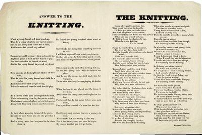 Bury: Birchinall, printer, n.d., 1820. Oblong broadside approx. 10