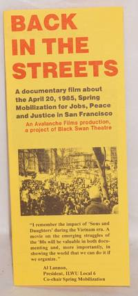 image of Back in the Streets: A documentary film about the April 20, 1985, Spring Mobilization for Peace, Jobs, and Justice in San Francisco