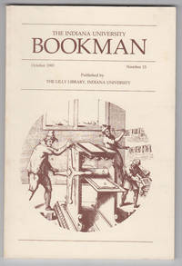 Film Studies Collections in the Lilly Library, Indiana University (Indiana  University Bookman, October 1983, No. 15