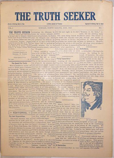Bowman, ND: Geo. A. Totten, 1913. Newspaper. Single sheet folded to make a p. tabloid format newspap...